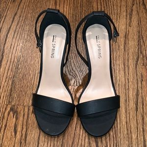 Call it Spring Black Two Strap Heels